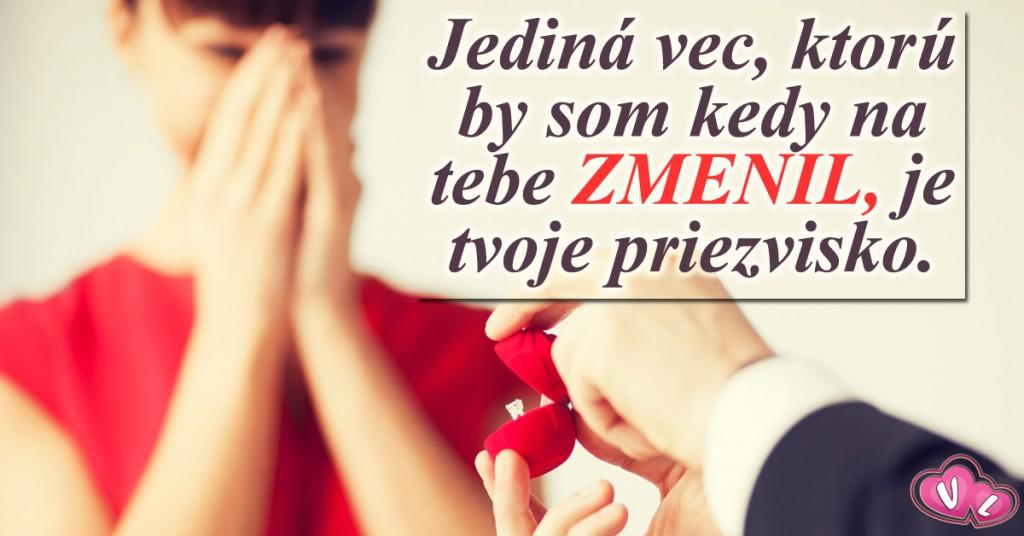 Dojímavá žiadosť Slováka o ruku českej priateľky