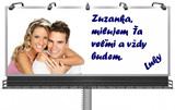billboard s vyznaním lásky